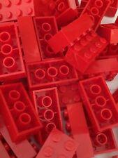 Lego 3001 New 2x4 Red Bricks Blocks Buildings Wall Lot Of 25pcs