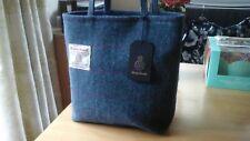 LADIES PURPLE AND BLUE CHECK HARRIS TWEED SHOULDER BAG