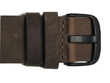 20mm Brown Leather Watch wrist Band Strap - Pebble Time Round 61104 -Color Brown