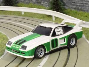 AURORA AFX   CHEVY MONZA GT   white - green - black #0   USED   HTF!!!
