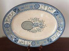 "Bates, Gildea & Walker B G & W Satsuma 21"" Transferware Platter c.1879"
