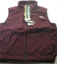 Drake Waterfowl 160 Maroon Fleece Layering Vest 2XLarge 17566