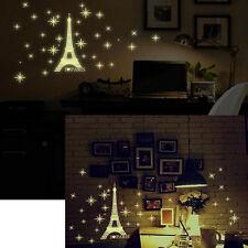 Glow In The Dark Luminous Paris Eiffel Tower Wall Stickers Bedroom Home Decor