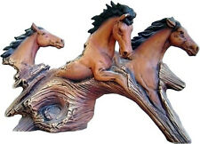"Ceramic Bisque Driftwood 3 running horses 8"" x 13"" ready to paint"