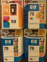 4x LOT Genuine OEM HP 78 Tri-color ink cartridges Exp: 5/05 - 6/07 *SEALED* READ