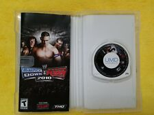 WWE SmackDown vs. Raw 2010 Featuring ECW (PSP, 2009) case has wear, disc good