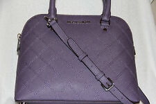 NWT Michael Kors CINDY Wisteria MD Dome Leather Satchel