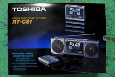 TOSHIBA RT - CS1 in box, New , Nuevo,La Radio bien El cassete no funciona Falla