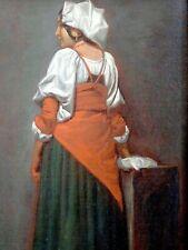 EXCEPTIONNELLE PEINTURE-ROMANTISME DU MILIEU XIXe-PORTRAIT D'UNE FEMME ITALIENNE