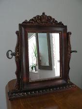 Noir Profond Cadre Rond Convexe Fisheye hublot Bulls Eye Miroir 19 cm