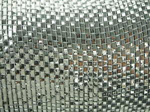 Solid 100% Sparkle Shiny Metallic Mesh Roll Decorative Wrap Overlay Table Cover