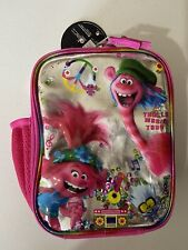 Pink Trolls Poppy World Tour Insulated Lunchbox Lunch Bag Peace Music Lunch Box