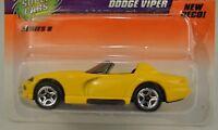 Matchbox Super Cars Yellow Dodge Viper Car Die Cast 1/64 1998 56 Series 8 New