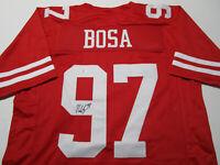 NICK BOSA / SAN FRANCISCO 49ERS / AUTOGRAPHED 49ERS RED CUSTOM JERSEY / COA