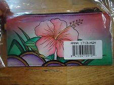 Anna by Anuschka Flower   Hand - Painted  Leather Wallet  NWT