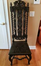 French Hunt Chair, Jacobean Style Restored