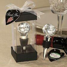 Crystal Wine Bottle Champagne Stopper Reusable Vacuum Sealed Crystal Wedding