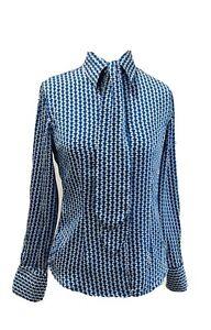 Rhodes & Beckett Women's 100% Silk Print Blouse Shirt Top SIZE 6