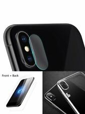 iPhone X Cover Case Plus Front + Back + Lens Tempered Glass Screen Protector