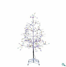 4' Pre-Lit Silver Christmas Tree With Multi-Colored LED Fairy Lights NEW TR3221M