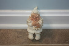 Gnome old vintage joker fool gnome white gnome laughing