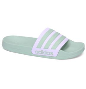 Adidas Adilette Green Tint/White Unisex Slides Flip Flops Slippers Sandals