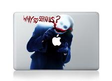 "Joker Batman Why So Serious Sticker Vinyl Decal for Macbook Air/Pro/Retina 13"""