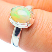 Ethiopian Opal 925 Sterling Silver Ring Size 7.5 Ana Co Jewelry R35471F