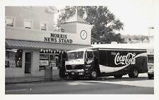 1994 RPPC POSTCARD PSYCHIC COCA COLA TRUCK NEWS STAND MORRISTOWN NEW JERSEY NJ
