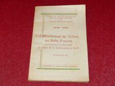 [Bibl RENE COTTRELL MARTINIQUE] P. BAUDE 100 ANS ABOLITION ESCLAVAGE EO 1948 Ms
