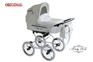 ISABELL Pram Baby Fashion 3in1 Retro stroller CARRYCOT + STROLLER + CAR SEAT
