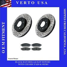 Front Brake Rotors /& Ceramic Pads Fit Nissan Various 4WD Models  3214X2-VC333