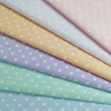 Polycotton Fabric 5mm Pastel Polka Dots Spots Spotty Spot