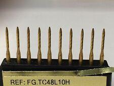 Trimming & Finishing Burs(10 Burs) TC48L10H T&F 12 Bladed