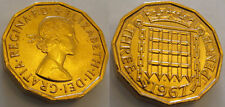 1967 Three Pence Coin Gold Commemorative Curiosity Item Rare Unique Unusual Old