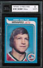 1979 80 OPC O PEE CHEE #185 Bobby Hull KSA 9 Mint + Last card