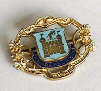 VINTAGE Knaresborough Pin Badge Enamel Coat of Arms FREE P&P