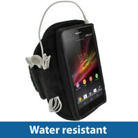 Black Sports Armband for Sony Xperia Z Android Smartphone Gym Running Jogging