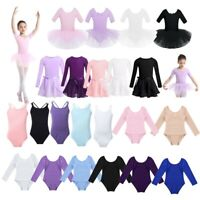 Girls Gymnastics Ballet Dance Dress Kids Cotton Tutu Skirts Performing Clothes