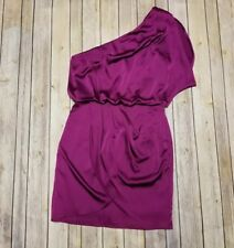 AQUA NWOT Women's One Shoulder Faux Wrap Purple Cocktail Dress