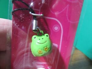 NEW/sealed in pkg CLAIRE's Cell Phone Charm metal green frog jingle bell