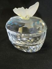 SWAROVSKI * Crystal Trinket Box with Butterfly 7466