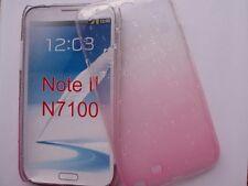 GALAXY NOTE 2 SAMSUNG N7100 ETUI HOUSSE COQUE RIGIDE RAIN DROP EFFET PLUIE, ROSE