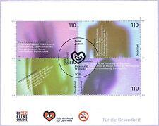 BRD 2001: Gesundheit! Block Nr. 54 mit Berliner Ersttags-Sonderstempel! 1912