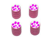 Paw Print Pink - Tire Rim Valve Stem Caps - Pink