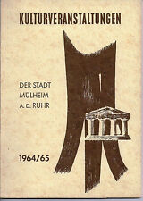 Mülheim a.d. Ruhr 1964 / 65 Theater Ernst Deutsch Minetti Balser Arps M. Wimmer