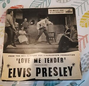 Elvis presley love me tender ep HMV VG condition