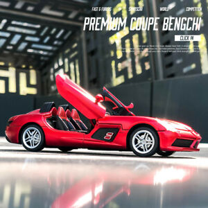 Simulation of Mercedes-Benz SLR convertible alloy car model Sound and light toy