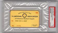 1980 NAPBL Cal Ripken Ticket Pass PSA 25 HR/Ryne Sandberg Age 20/Cubs/Orioles