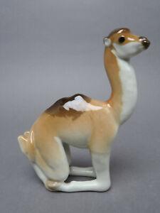 Lomonosov Porzellan Kamel Figur ca. 16 cm H Made in UDSSR